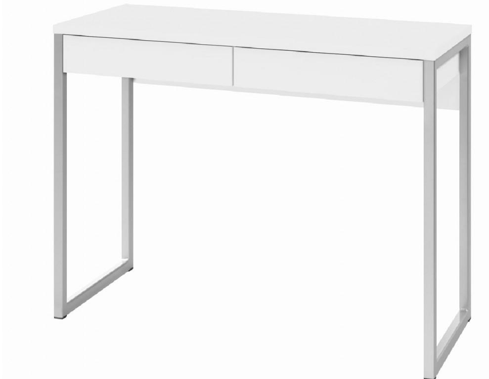 Tvilum Function Plus Computertisch Schreibtisch Bürotisch Büro Tisch Weiß Hochglanz