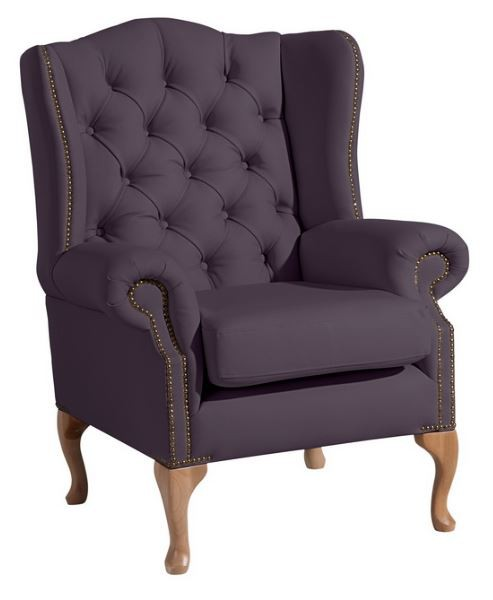 widnes einzelsessel chesterfield sessel einzelsofa kunstleder violett polsterm bel chesterfield. Black Bedroom Furniture Sets. Home Design Ideas