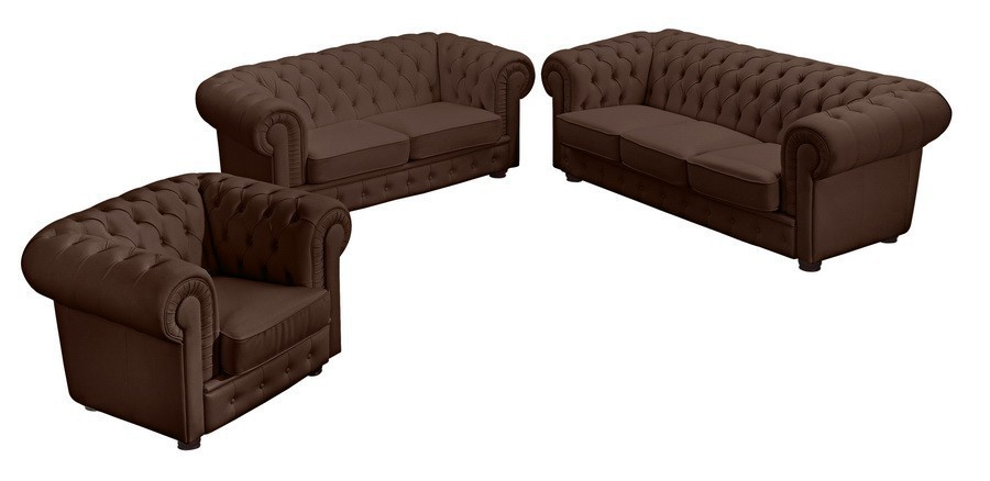 nottingham sofagarnitur chesterfield couchgarnitur sofa leder braun polsterm bel chesterfield. Black Bedroom Furniture Sets. Home Design Ideas