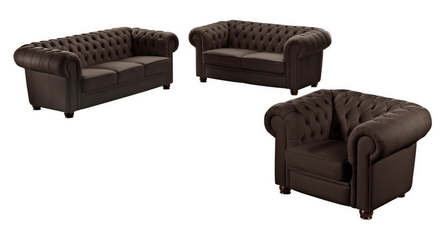 norwich 2er sofa chesterfield couch leder braun polsterm bel chesterfield 2 sitzer. Black Bedroom Furniture Sets. Home Design Ideas