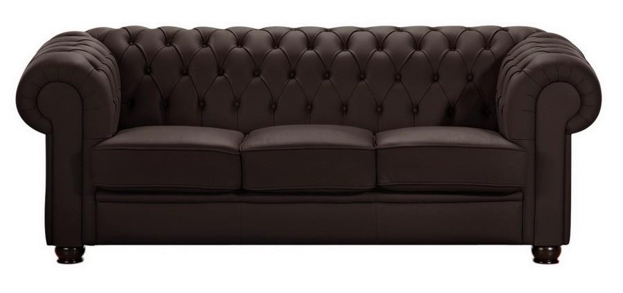 norwich 3er sofa chesterfield couch kunstleder braun polsterm bel chesterfield 3 sitzer. Black Bedroom Furniture Sets. Home Design Ideas