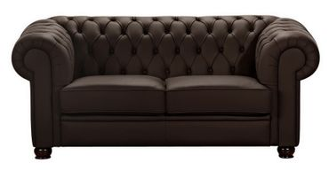NORWICH Sofagarnitur Chesterfield Couchgarnitur Sofa Leder Braun – Bild 3