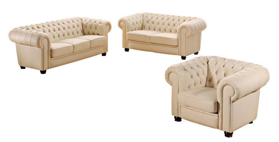 norwich sofagarnitur chesterfield couchgarnitur sofa kunstleder beige polsterm bel chesterfield. Black Bedroom Furniture Sets. Home Design Ideas