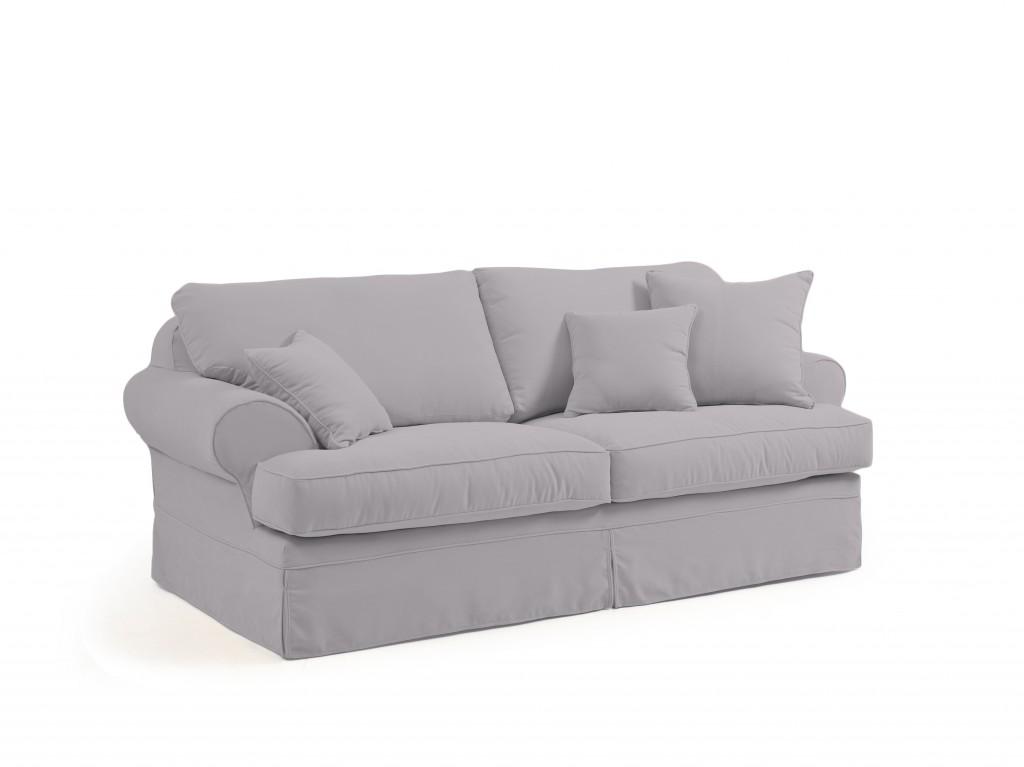 WATFORD 2,5er Sofa Couch  Veloursstoff Silbergrau