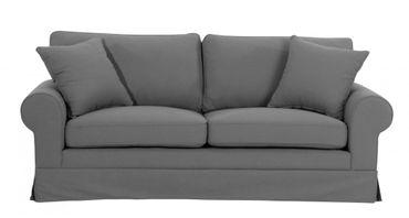 NEWPORT 2,5er Sofa Couch Leinenoptik Grau – Bild 2