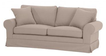 NEWPORT 2,5er Sofa Couch Leinenoptik Sandfarben – Bild 1