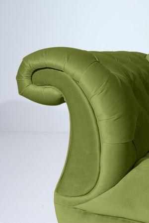 EXETER 3er Sofa Chesterfield Couch Samtvelours Olivgrün – Bild 4