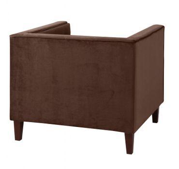 BLACKBURN Einzelsessel Sofa Sessel Einzelsofa Samtvelour Braun – Bild 3