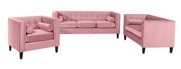 BLACKBURN Einzelsessel Sofa Sessel Einzelsofa Samtvelour Rosé – Bild 4