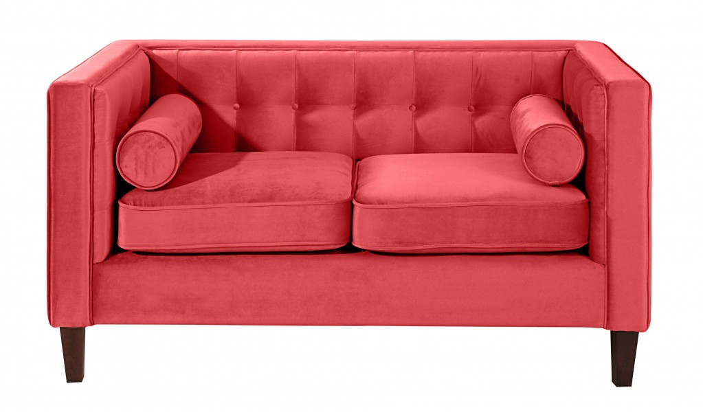 blackburn 2er sofa couch samtvelour rot polsterm bel 2 sitzer. Black Bedroom Furniture Sets. Home Design Ideas