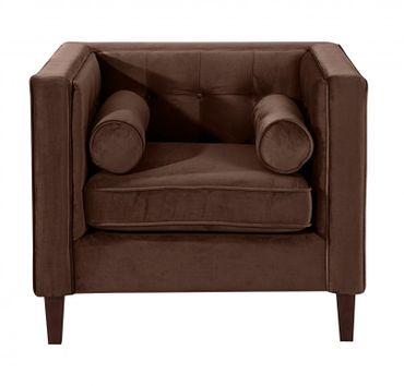 BLACKBURN Sofagarnitur Couchgarnitur Sofa Garnitur Samtvelour Braun – Bild 5