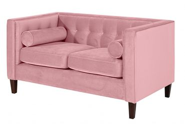 BLACKBURN Sofagarnitur Couchgarnitur Sofa Garnitur Samtvelour Rosé – Bild 3