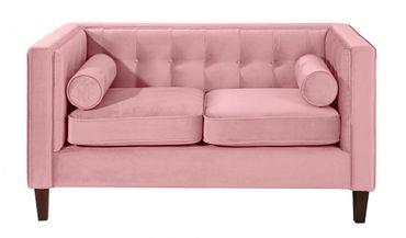 BLACKBURN Sofagarnitur Couchgarnitur Sofa Garnitur Samtvelour Rosé – Bild 7