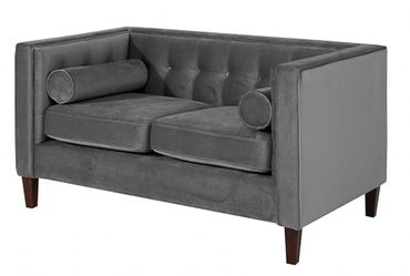 BLACKBURN Sofagarnitur Couchgarnitur Sofa Garnitur Samtvelour Anthrazit – Bild 3