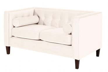 BLACKBURN Sofagarnitur Couchgarnitur Sofa Garnitur Samtvelour Creme – Bild 3