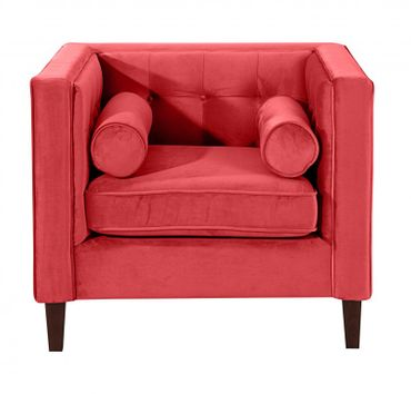 BLACKBURN Sofagarnitur Couchgarnitur Sofa Garnitur Samtvelour Rot – Bild 5