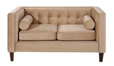 BLACKBURN Sofagarnitur Couchgarnitur Sofa Garnitur Samtvelour Sandfarben – Bild 7
