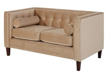 BLACKBURN Sofagarnitur Couchgarnitur Sofa Garnitur Samtvelour Sandfarben – Bild 3