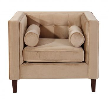 BLACKBURN Sofagarnitur Couchgarnitur Sofa Garnitur Samtvelour Sandfarben – Bild 5