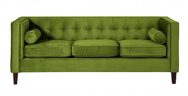 BLACKBURN Sofagarnitur Couchgarnitur Sofa Garnitur Samtvelour Olivgrün – Bild 8