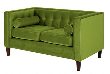 BLACKBURN Sofagarnitur Couchgarnitur Sofa Garnitur Samtvelour Olivgrün – Bild 3