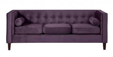 BLACKBURN Sofagarnitur Couchgarnitur Sofa Garnitur Samtvelour Lila – Bild 8