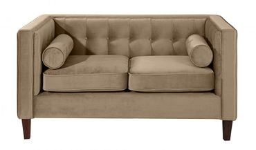 BLACKBURN Sofagarnitur Couchgarnitur Sofa Garnitur Samtvelour Sahara-Braun – Bild 7