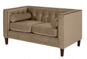 BLACKBURN Sofagarnitur Couchgarnitur Sofa Garnitur Samtvelour Sahara-Braun – Bild 3
