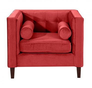 BLACKBURN Sofagarnitur Couchgarnitur Sofa Garnitur Samtvelour Dunkelrot – Bild 5