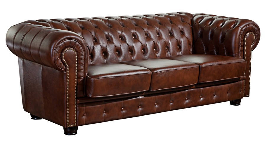 mansfield sofagarnitur chesterfield couchgarnitur sofa leder braun ebay. Black Bedroom Furniture Sets. Home Design Ideas