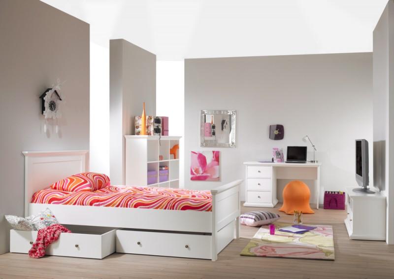 Paris Kinderzimmer Set Jugendzimmer Komplettset Schlafzimmer Weiß ...