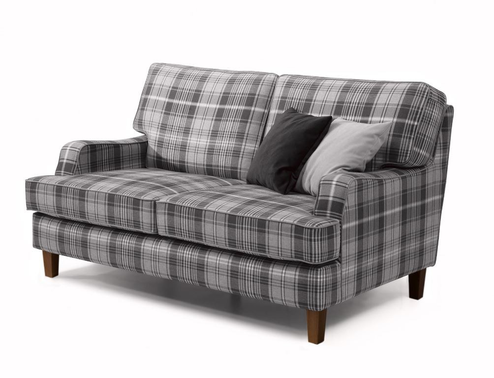 kingswood 2er sofa couch flachgewebe grau polsterm bel 2. Black Bedroom Furniture Sets. Home Design Ideas