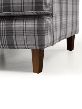 KINGSWOOD Sofagarnitur Couchgarnitur Sofa Garnitur Flachgewebe Grau – Bild 5