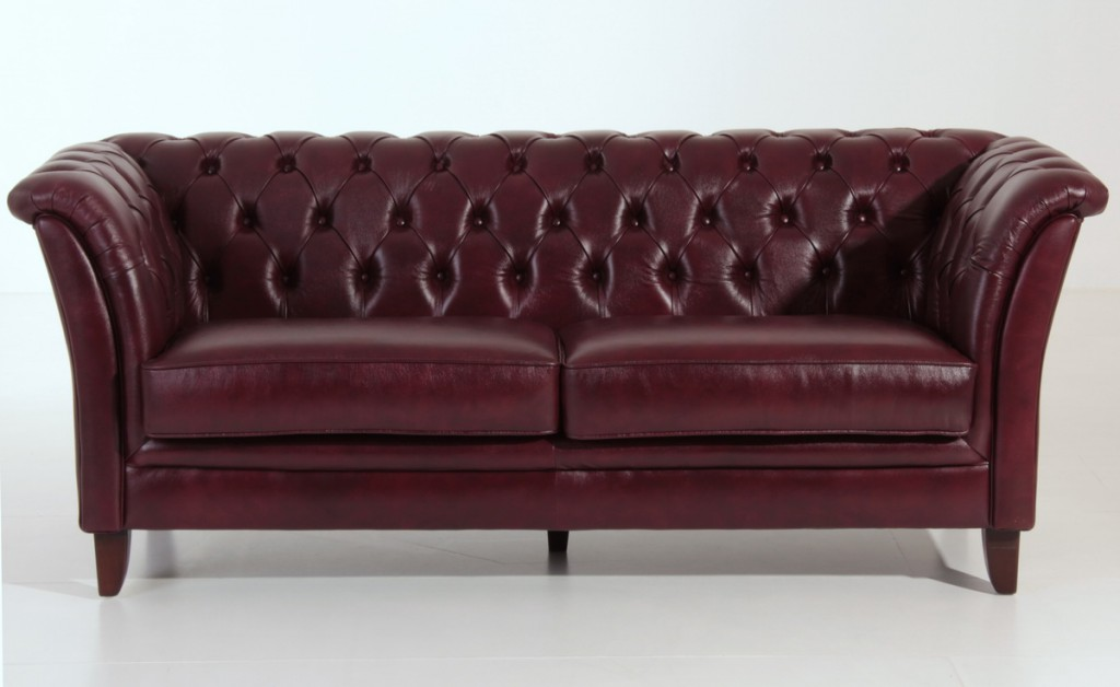 barnsley 2 5er sofa chesterfield couch leder rot. Black Bedroom Furniture Sets. Home Design Ideas