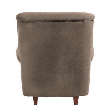 CORBY Hochlehnsessel Einzelsessel Sessel Einzelsofa Velourstoff Sahara-Braun – Bild 3