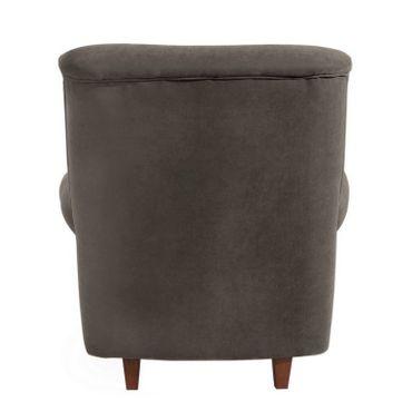 CORBY Hochlehnsessel Einzelsessel Sessel Einzelsofa Velourstoff Stein-Grau – Bild 3