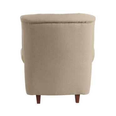 CORBY Hochlehnsessel Einzelsessel Sessel Einzelsofa Leinenoptik Sahara-Braun – Bild 3