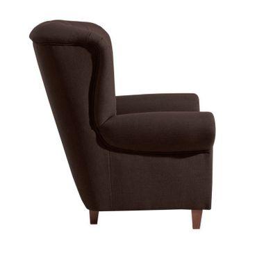 CORBY Hochlehnsessel Einzelsessel Sessel Einzelsofa Leinenoptik Dunkelbraun – Bild 2