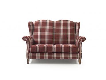 BARRY 2er Sofa Couch Flachgewebe Rot – Bild 6