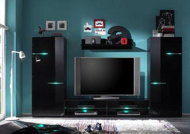 Media Light Anbauwand Wohnwand Wohnzimmer RGB Wechsel Beleuchtung – Bild 4