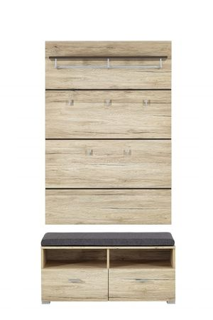 fresno garderobenschrank dielenschrank garderobe schrank diele flur garderobenschr nke. Black Bedroom Furniture Sets. Home Design Ideas