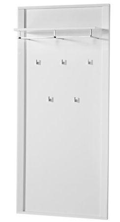 GREENVILLE Garderobenpaneel Wandpaneel Garderobenhaken Paneel Weiß Hochglanz – Bild 1
