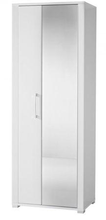 GREENVILLE Garderobenschrank Dielenschrank Garderobe Flurgaderobe Weiß Hochglanz – Bild 1