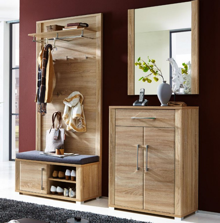 4 tlg greenville garderobenkombination garderobe garderobeset garderobenkomplettset diele flur. Black Bedroom Furniture Sets. Home Design Ideas
