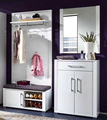 4 tlg GREENVILLE Garderobenkombination Garderobe Garderobeset Garderobenkomplettset – Bild 1