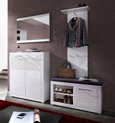 4 tlg LYON Garderoben-Kombination Garderobe Garderobenschrank Garderobenset – Bild 1