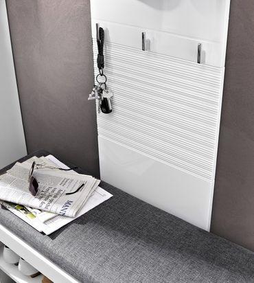 4 tlg LYON Garderoben-Kombination Garderobe Garderobenschrank Garderobenset – Bild 4