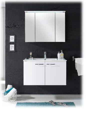 SPLASH 1 Badezimmer Set 2-tlg. Weiß Hochglanz – Bild 4