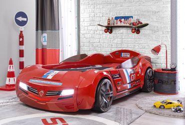 Cilek BiTURBO Autobett Kinderbett Bett Rennfahrerbett Rot – Bild 1