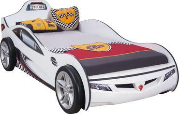 Cilek COUPE Autobett Kinderbett Bett Rennfahrerbett Weiß – Bild 1